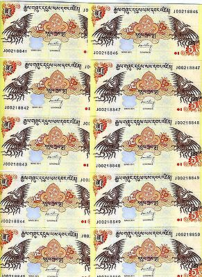 LOT, Bhutan,  10 x 5 Ngultum, 2011, P-36, UNC -> ornate
