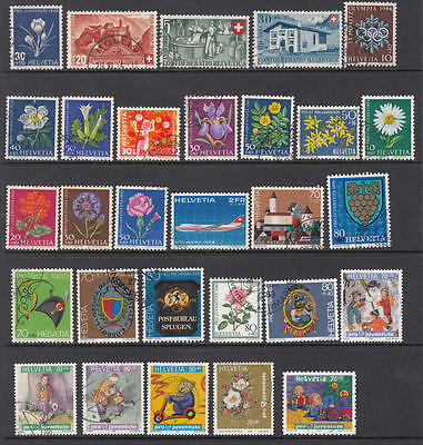 Switzerland Semi-Postals 1941//2003 hi val selection 29 diff used stamps cv $63