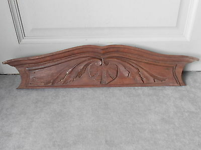 French Antique Carved wood OAK PLAQUE PEDIMENT PANEL