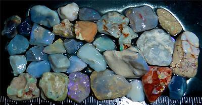 100 Cts #822 Opal Rough And Rough Rubs From Lightning Ridge Australia
