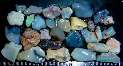 100 Cts #826 Opal Rough And Rough Rubs From Lightning Ridge Australia