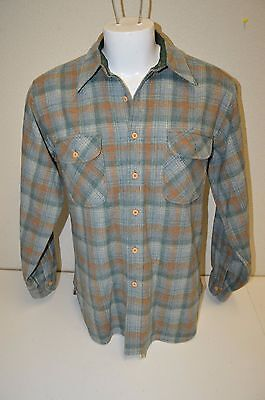 Vintage PENDLETON Country Traditionals Plaid Wool Long Sleeve Men's Shirt Size L
