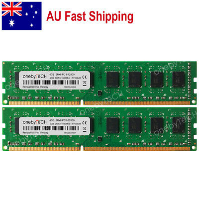 AU 8GB KIT 2x4GB PC3-12800 DDR3-1600Mhz 240pin Intel&AMD Desktop Memory Module