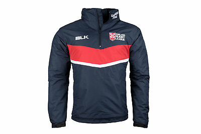 BLK England Rugby League 2017 1/4 Zip Travel Jacket Sports Workout Long Sleeve