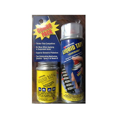 Liquid Tape Electrical with 4 Oz. Brush-in-Cap Container and 6 Oz. Aerosol Spray