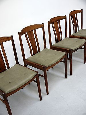 1960s VINTAGE ORIGINAL SET OF SIX ROSEWOOD DINING CHAIRS MADE DENMARK MIDCENTURY