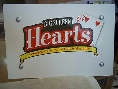 "HEARTS BIG SCREEN 16x10.5"" LAMINATED FOAM BOARD DISPLAY SIGN CARD ROOM POKER"