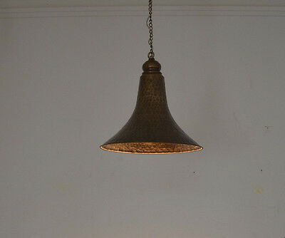 Unique Handcrafted Moroccan Middle Eastern Brass Hanging Lantern Lamp