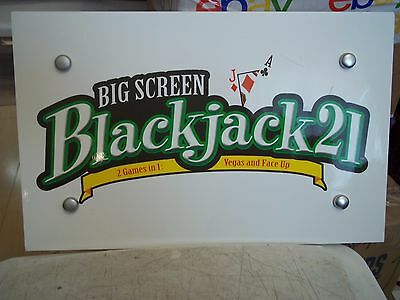 "BLACKJACK 21 RADICA GAME 151/4""x93/4"" FOAM BOARD MANCAVE SIGN POKER CARD ROOM"