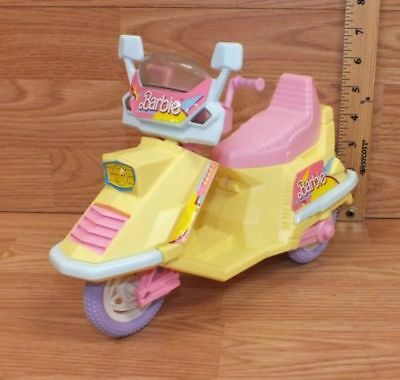 Vintage Mattel 1989 Arco Barbie Pink & Yellow Scooter / Moped Toy Only **READ**