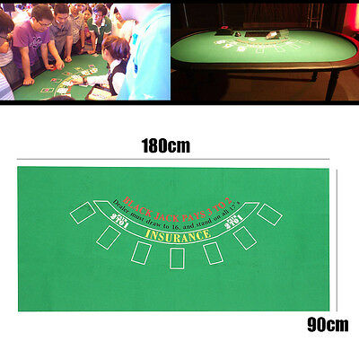 AU 180x90cm 7 Player Craps Poker Table Layout Mat Cover Gaming Cloth Casino Felt