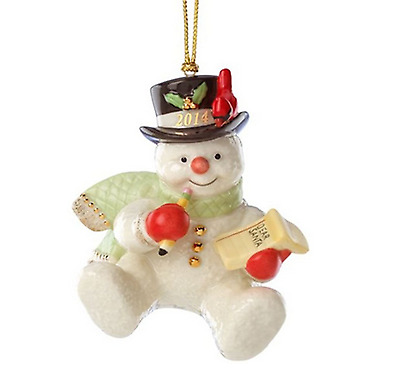 Lenox 2014 Making a List for Santa Snowman Ornament