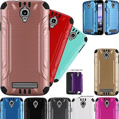 For Coolpad Canvas / Coolpad Splatter Hybrid Brushed Phone Case Cover COMBAT