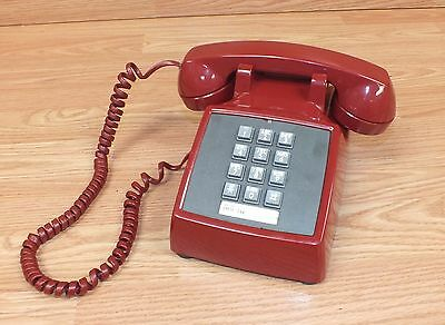Genuine Vintage Western Electric (2500MM) Red Push Button Desk Top Phone *READ*