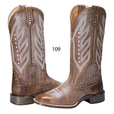 66031 Noble Outfitters Ladies All Around Western Vintage Boot Square Toe NEW