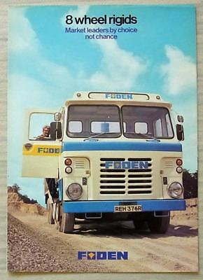 FODEN 8 WHEEL RIGIDS Commercial Sales Brochure Aug 1977 #0997.8.77