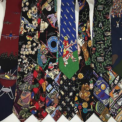 14 pc Vtg 90's NICOLE MILLER Vicky Davis Men COLLECTIBLE NOVELTY Neck Tie LOT