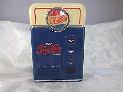1996 Pepsi Cola Coin Bank Coin Sorter Soda Machine Shape