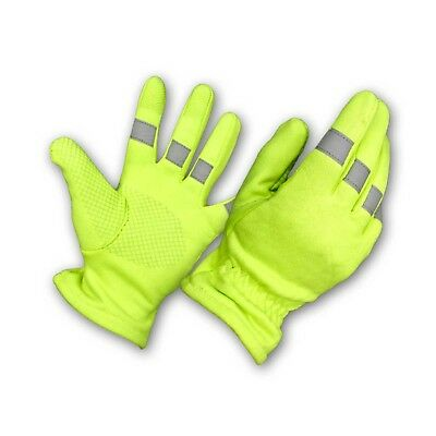 Perfect Fit Reflective Hi Vis Gloves Traffic Control Safety Police Fire Marshal