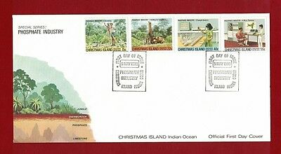 1980 Christmas Island Phosphate Industry Set no. 1 SG 122/5 FDC