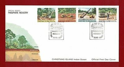 1980 Christmas Island Phosphate Industry Set no. 2 SG 126/9 FDC