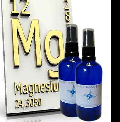 Organic Magnesium oil spray 50-250ml sizes Glass Bottle NO Aluminium/heavy metal