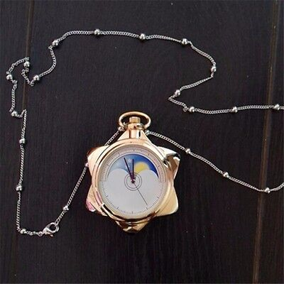Sailor Moon 20th Anniversary Star Pocket Watch Necklace Cosplay Color Gold