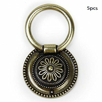 5pcs Antique brass EU Style Pull Ring Handle Knob for Cabinet Drawer US