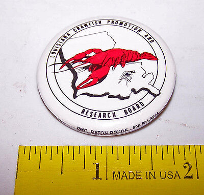 LOUISIANA CRAWFISH Promotion and Research Board PINBACK BUTTON Pin