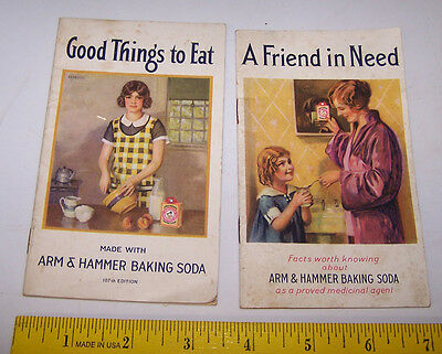 2 - 1933 ARM & HAMMER BAKING SODA Booklets Recipes & Household Helpful Hints