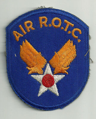 Ww2/korean Era Us Army Air Force Air R.o.t.c. Cut Edge Insignia Patch