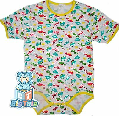 BIG TOTS DINOSAURS adult size bodysuit baby fabric