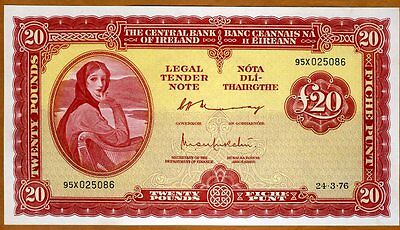 Ireland Republic, 20 pounds, 1976, P-67 (67c), UNC