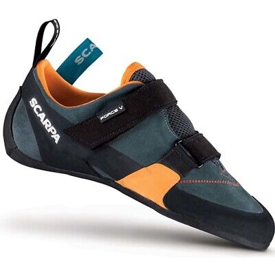 Scarpa Force V Mens Climbing Shoes - Mangrove/Papaya