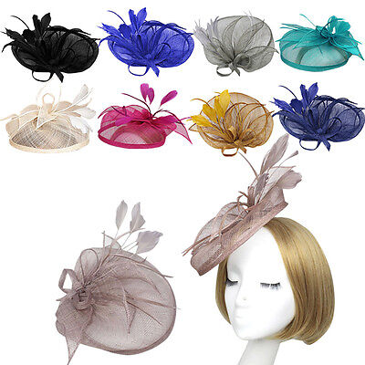 Headband Clip Sinamay Head Fascinator Occasion Ladies Wedding Party Cocktail Hat