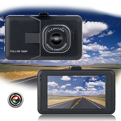"HD 3.0"" LCD 1080P Car DVR Vehicle Camera Video Recorder Dash Cam Night Vision"