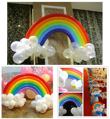 25pcs Rainbow Set Colorful Magical Long Animal Twist Latex Balloon Party Decor