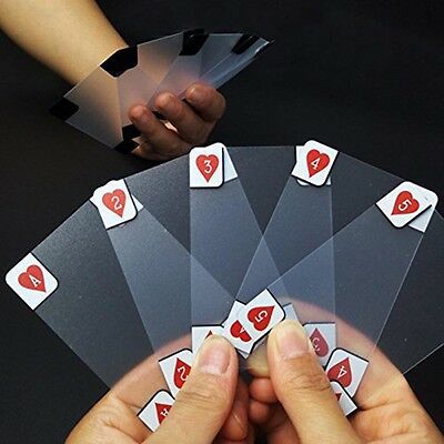 Clear Poker Cards Waterproof Matte Transparent Magic Playing Cards Game Toys