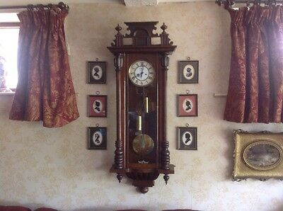Antique Double Weight Vienna Clock