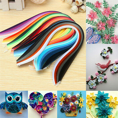 600 Strips 30 Colors Paper Quilling Total 390mm Length 3mm Width  DIY Papercraft