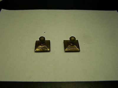 Lot of 2 Vintage Brass Dresser Drawer Pull Back Plates for Swing Handles   #6