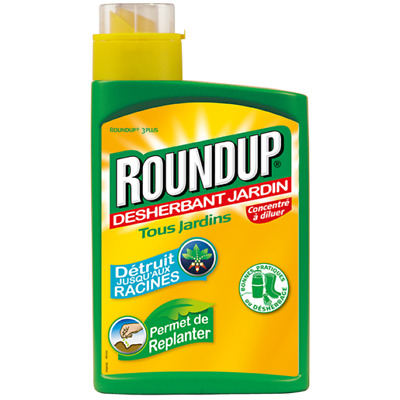 Roundup 3Plus Concentre A Diluer Desherbant Jardin 1Litre Permet Replanter