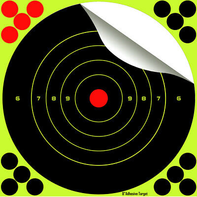 "Splatter Target 8""  200mm Shoot rifle pistol reactive air cheap targets N C 8"