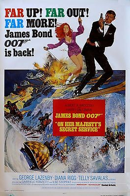 On Her Majesty's Secret Service Style E Movie Poster 13x19 inches