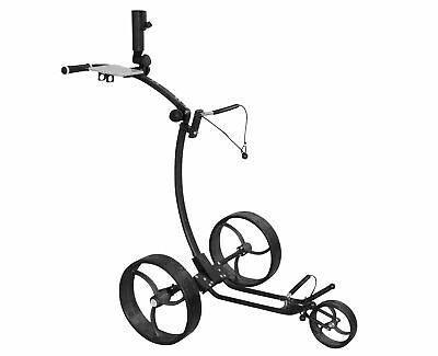 Tour Made RT-120 Aluminium 3-Rad Golf Pushtrolley Golftrolley schwarz silber