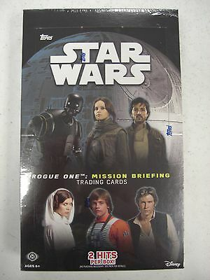 STAR WARS ROGUE ONE Mission Briefing  UNOPEN HOBBY BOX by Topps 24 Packs/8 Cards