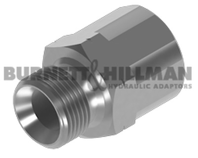 Burnett & Hillman Hydraulic BSP Male x METRIC Fixed Fem Extended Adaptor | 4-28