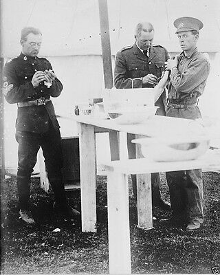 Canadian Soldier being vaccinated Valcartier Quebec World War I WWI 8x10 Photo