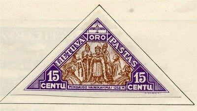 Lithuania 1932 Early Issue Mint Hinged 15c. 185218