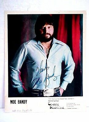 MOE BANDY 8 x 10 Color Photo Authentic Autographed Signed Photograph 1983